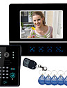 "7 ""Video-Tuersprechanlage Gegensprechanlage Tuerklingel Touch Panel Tuerschloss RFID Keyfobs"