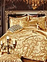 4 Piece Jacquard Polyester Duvet Cover Set Mhdm01