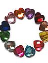 24PCS MiXs Color Glitter Kärlek Rhinestone Nail Art Dekorationer