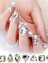 10PCS Mixs Patroon Glitter Glas Drill Nail Art Decorations