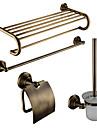 4-emballe en laiton antique accessoires Ensemble de bain, serviette Titulaire Bar / Salle de bains Tablette / Porte-papier / pinceau