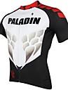 ILPALADINO Maillot de Cyclisme Homme Manches courtes Velo Maillot Hauts/Tops Sechage rapide Resistant aux ultraviolets Respirable100 %