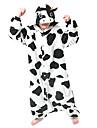 Kigurumi Pyjamas mjölk ko Leotard/Onesie Halloween Animal Sovplagg Vit / svart Djurmönster Polar Fleece Kigurumi UnisexHalloween /