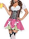 Costumes de Cosplay Costume de Soiree Tenus de Servante Fete d\'Octobre/Biere Fete / Celebration Deguisement d\'Halloween Incarnadin