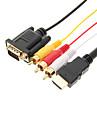 Hög kvalitet HDMI till VGA/3RCA kabel