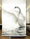 Elegant Plain Color Swan Rullgardin