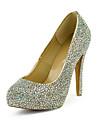 Women\'s Spring / Fall Heels / Platform Leather Dress Stiletto Heel Rhinestone Multi-color