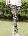 Women\'s Green Skinny Slim Elastic Printing Leggings