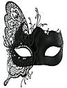 Mask Cosplay Festival/Högtid Halloween Kostymer svart Enfärgat / Spets Mask Halloween / Karnival Unisex Metall