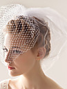 Wedding Veil Two-tier Blusher Veils 10-20cm Tulle White