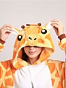 kigurumi Pyjamas Girafe Collant/Combinaison / Chaussons Fete / Celebration Pyjamas Animale Halloween Jaune Mosaique Toison de Coral