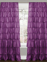 (En panel Rod Pocket) Minimalist Solid Energy Multi Ruffle Curtain
