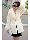 Fashion Long Sleeve Shawl Faux Fur Party/Casual Coat (More Colors)