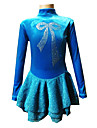 Robe de Patinage Femme / Fille Manches longues Patinage Jupes & Robes Haute elasticite Robe de patinage artistique Respirable / Elastique