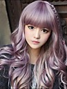 Japanese Harajuku Zippe Mix Purple Gradient Curly Lolita Cosplay del partido de la peluca