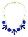 Personnalite Kushang coreen simple fleur Neckalce (bleu royal, orange, violet)