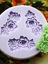 tre blomma bakning fondant tårta choclate godis mögel, l6.1cm * w5.9cm * h0.9cm