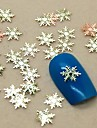 200pcs forme de flocon de neige tranche metal nail art decoration