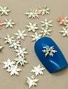 200st snöflinga form skiva metall nagel konst dekoration