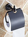 Porte Papier Toilette Bronze Huile Fixation Murale 140 x 134 x 66mm (5.51 x5.27 x 2.59inch) Laiton Antique