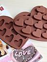 älska form 10 små hjärtchokladglass fack is kakformar