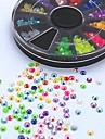 500st mix färg godis ab akryl strass hjul nail art dekoration