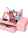 grande boite de cosmetiques en plastique avec tiroirs (plus de couleurs)