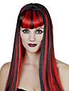 Perruques de Cosplay Reine Conte de Fee Fete / Celebration Deguisement d\'Halloween Rouge Bleu Noir/blanc Couleur Pleine PerruqueHalloween