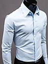 nono gentleman långärmad ren färg skjortan
