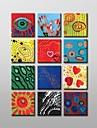 ręcznie malowane nowoczesny obraz olejny z rozciągniętej zestaw abstrakcyjna ramki z dnia 12