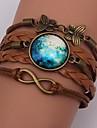 Armband Wrap Armband / Läder Armband Legering / Läder Dagligen / Casual Smycken Present Brun,1st