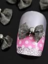 10pcs noir noeud papillon pour les accessoires de pointes d\'ongle decoration d\'art