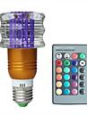 jiawen® e27 3w rgb 16 couleurs cristal conduit ampoule avec telecommande (ac 100-220v)