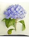 1 pcs Coton/Lin Housse de coussin,Fleur Rustique