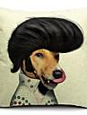 tecknad stilig hund bomull / linne dekorativa örngott