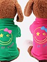 Fashion Cotton Comfortable Smiling Face Pattern for Pet Dog Clothes (Assorted Colors and Size)