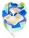 femei chiffion geometrie imprimare bandană pătrat eșarfă