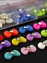 100pcs melange arc de resine de couleur cravate avec des accessoires en strass pas inclus boite 3d nail art decoration