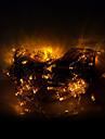 10m 100 lysdioder jul halloween dekorativa lampor fest lysrör ordinära gult ljus strängar (220V)