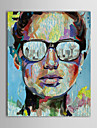 Hand Painted Oil Painting People Man in Glass Knife Painted Painting with Stretched Frame