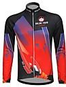 REALTOO® Veste de Cyclisme Homme Manches longues Velo Respirable Garder au chaud Doublure Polaire Maillot Hauts/TopsSpandex Polyester