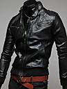 Charels för män orsaks monter krage läder kläder jacka