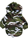 Chat / Chien Pulls a capuche Vert Vetements pour Chien Hiver / Printemps/Automne camouflage Mode