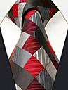 verificare afaceri model gri mătase cravată pentru bărbați