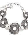 Kvinners europeiske Vintage cutout Round Monter Alloy Chain & Link Armbaand (1 stk)