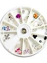 ros stil färgrik stor rhinestone nagel dekorationer