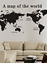 perete decalcomanii autocolante de perete, autocolante de perete hartă a lumii din pvc