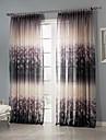 Deux Panneaux Le traitement de fenetre Rustique Chambre a coucher Polyester Materiel Sheer Rideaux Shades Decoration d\'interieur For