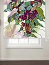 abstrakt stil fjäril med blommor rulle skugga