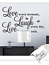 ZOOYOO® removable colorful cute words love live laugh 3D wall sticker home decor wall stickers for kids/living room